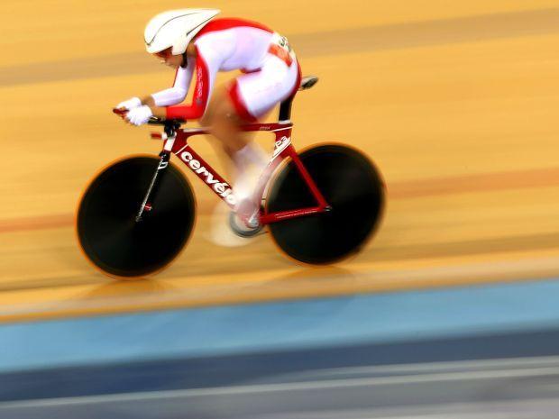 Małgorzata Wojtyra na kolarskim welodromie (fot. Getty Images)