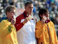 Łotysz Maris Strombergs obronił złoto na BMX-ach (fot. Getty Images)