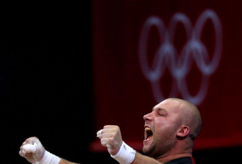 Bartłomiej Bonk po udanej próbie (fot.Getty Images)