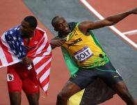 Usain Bolt i Justin Gatlin (fot. Getty Images)