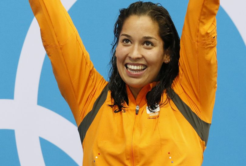 Ranomi Kromowidjojo została mistrzynią olimpijską w wyścigu na 50 metrów stylem dowolnym kobiet (fot. PAP/EPA)