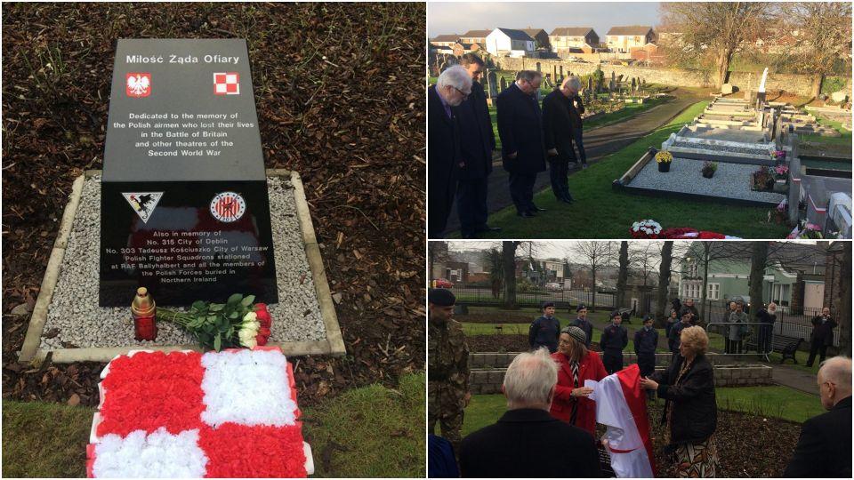 Monument dedicated to Polish pilots unveiled in Belfast (polandin com)
