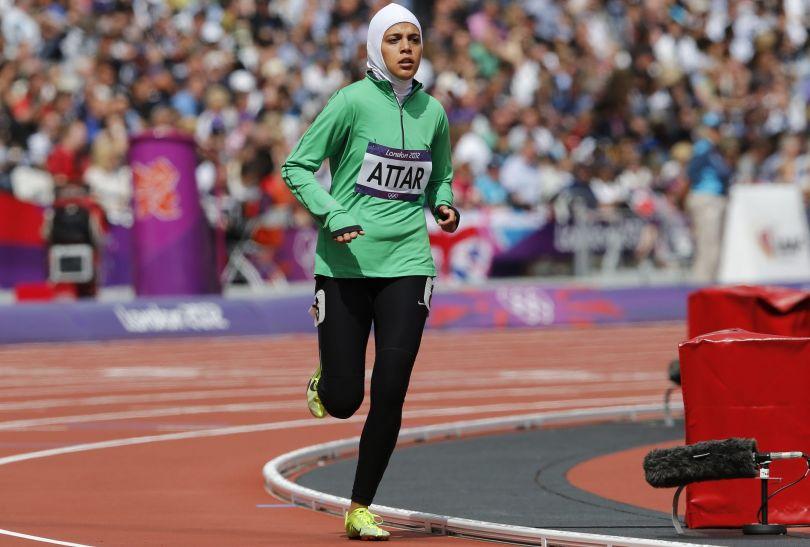 Reprezentantka Arabii Saudyjskiej w eliminacjach biegu na 800 metrów (fot. PAP/EPA)