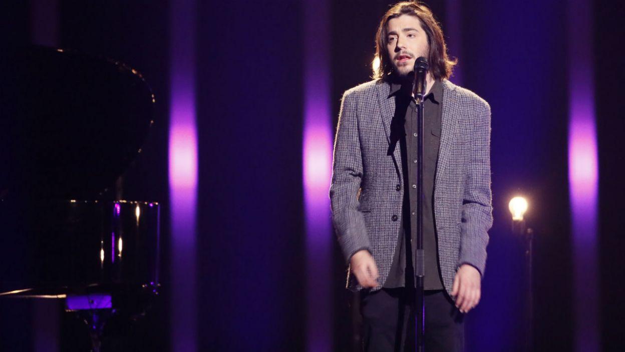 Podczas finału nie mogło zabraknąć zeszłorocznego zwycięzcy Eurowizji. Salvador Sobrala zaśpiewał po raz pierwszy po przeszczepie serca (fot. Andreas Putting/eurovision.tv)