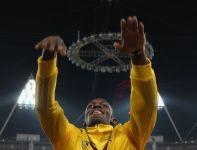 Tak Usain Bolt pożegnał się z publicznością w Londynie (fot. Getty Images)