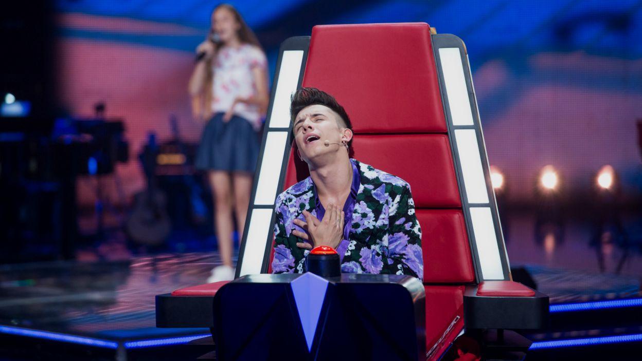 Dawid wyglądał na złowionego, czy odwrócił fotel? (fot.J. Bogacz/TVP)