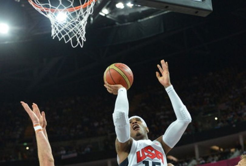 Carmelo Anthony w ataku (fotGetty Images)
