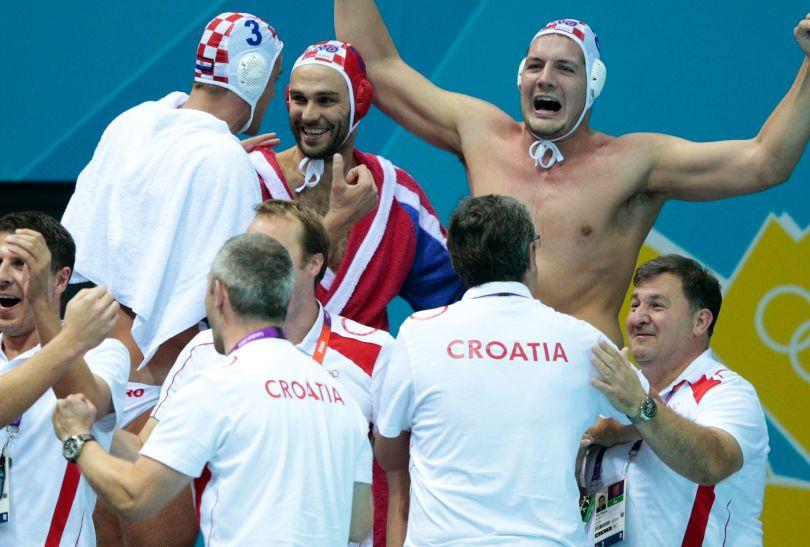 Chorwacja wygrała z Czarnogórą 7:5 i to ona zagra w finale turnieju olimpijskiego mężczyzn (fot. Getty Images)