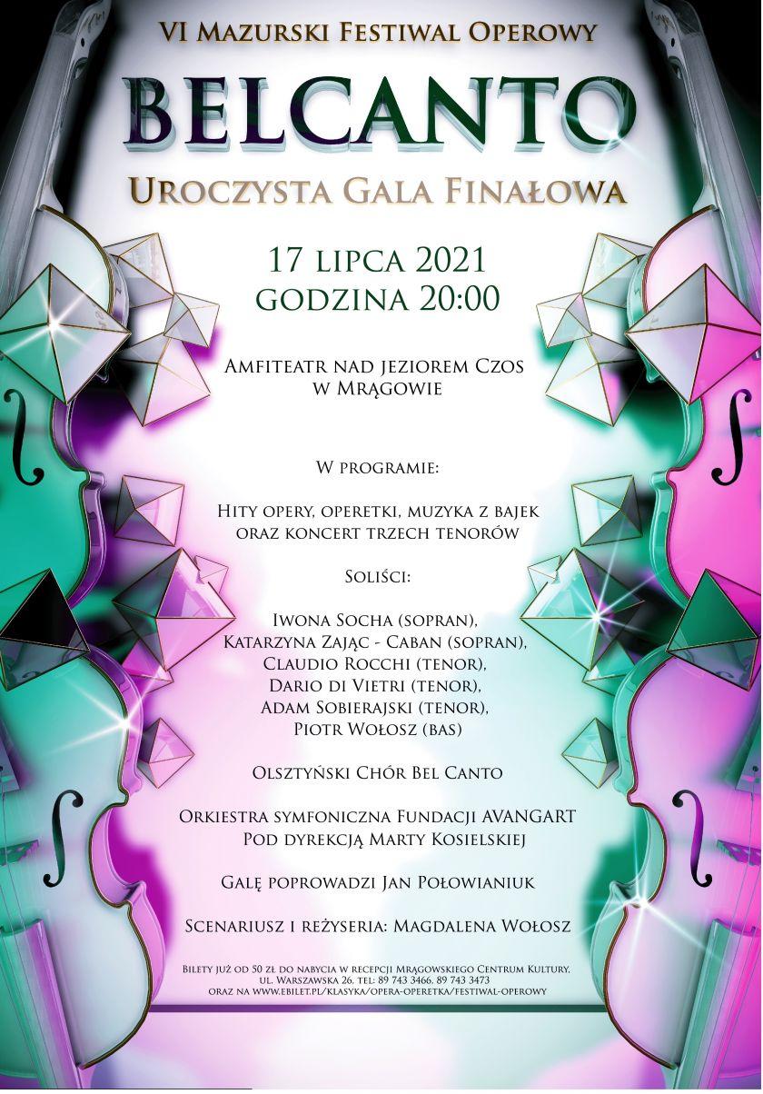 VI Mazurski Festiwal Operowy BELCANTO