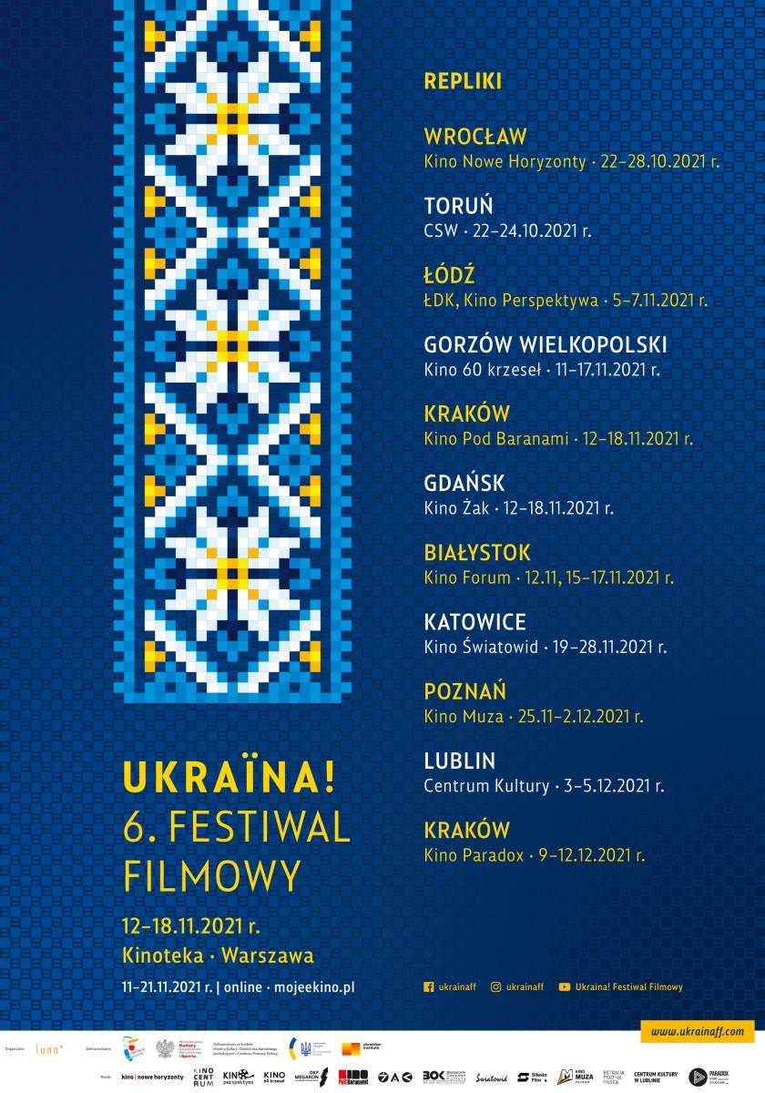 """""""Ukraina! 6. Festiwal Filmowy""""  już wkrótce w całej Polsce"""