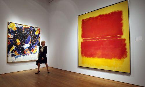 """""""Numer 15"""" Marka Rothko nowojorski dom aukcyjny Christie's wycenił na 40 milionów dolarów. Fot. Mario Tama/Getty Images"""