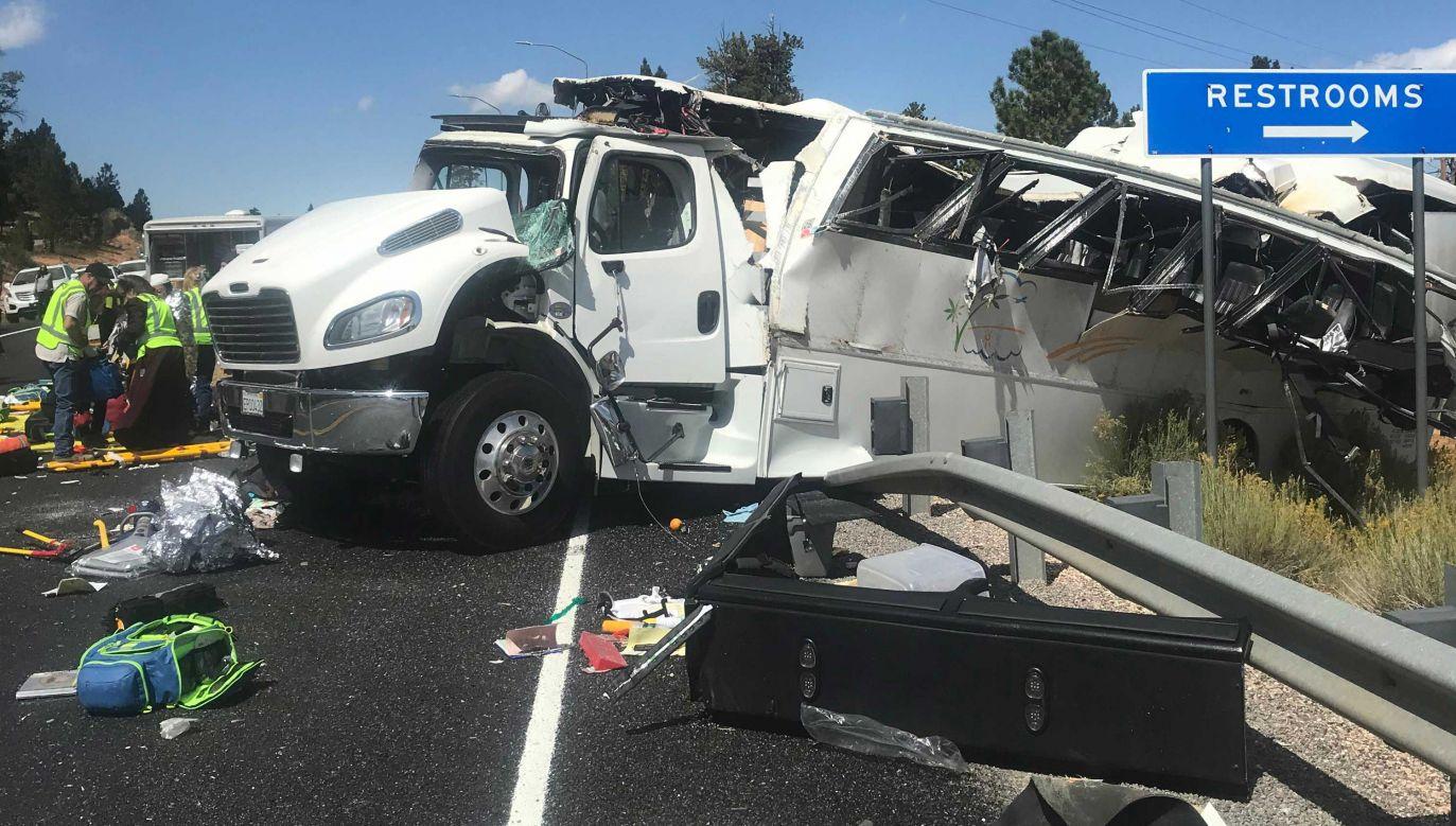 Na razie nie wiadomo, co było przyczyną wypadku (fot. Danny Perkins/Garfield County Sheriff's Office)