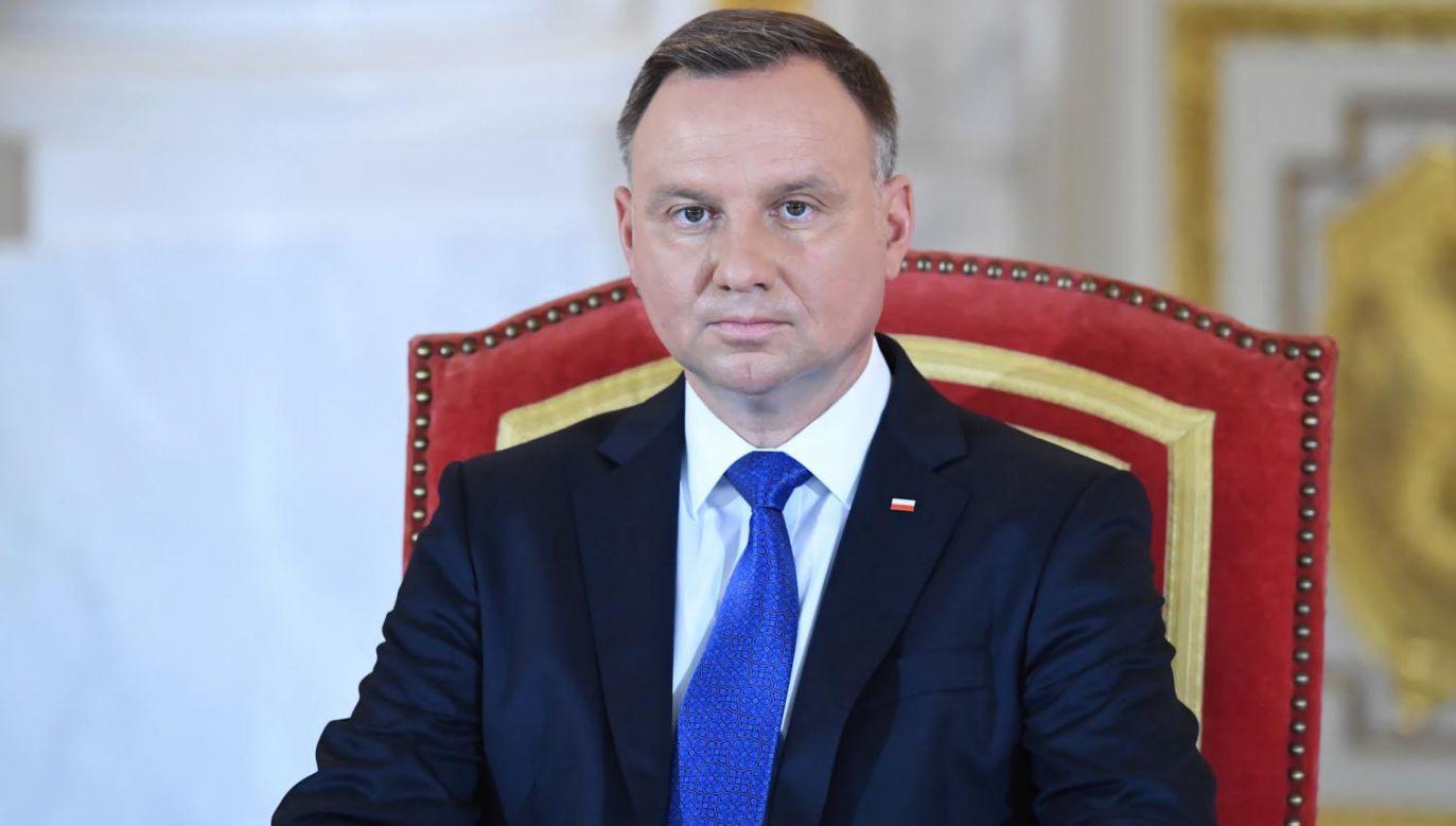 Prezydent Andrzej Duda pożegnał zmarłego byłego opozycjonistę (fot. PAP/Piotr Nowak)