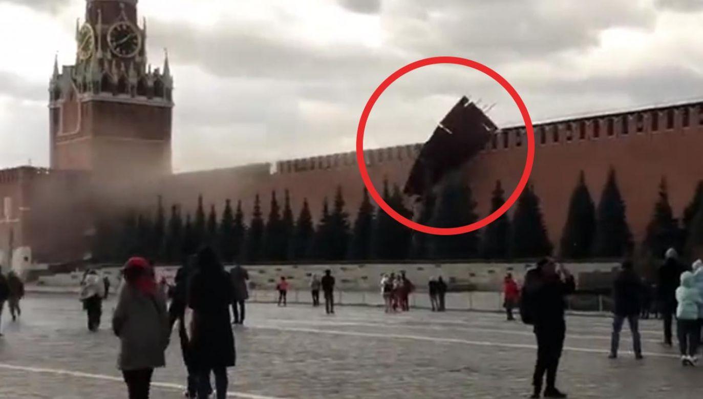 Po incydencie Plac Czerwony został przejściowo zamknięty (fot. Twitter/Liveuamap)