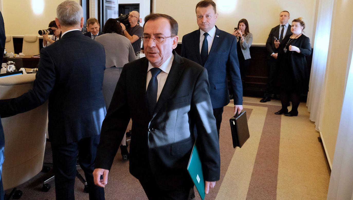 Minister Koordynator Służb Specjalnych Mariusz Kamiński  (fot. PAP/Mateusz Marek)