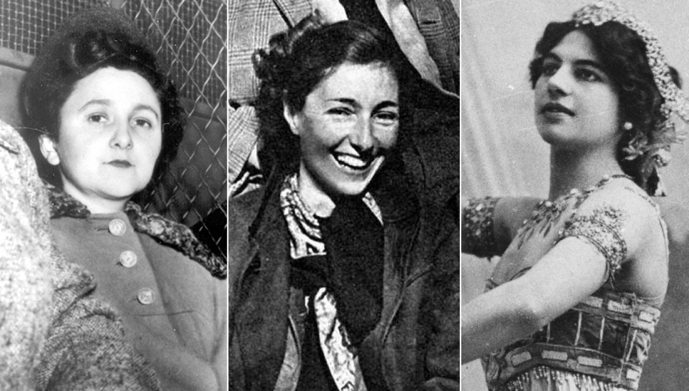 Ethel Rosenberg, Krystyna Skarbek i Mata Hari (fot. arch.PAP/UPPA/Photoshot/Personalities/fb/Zeit Geist/Walery/Hulton Archive/Getty Images)