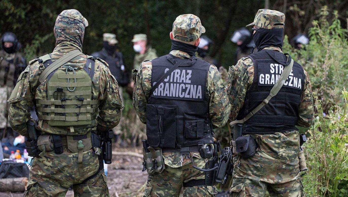 Praca w Straży Granicznej cieszy się coraz większym zainteresowaniem (fot.  Maciej Luczniewski/NurPhoto via Getty Images)