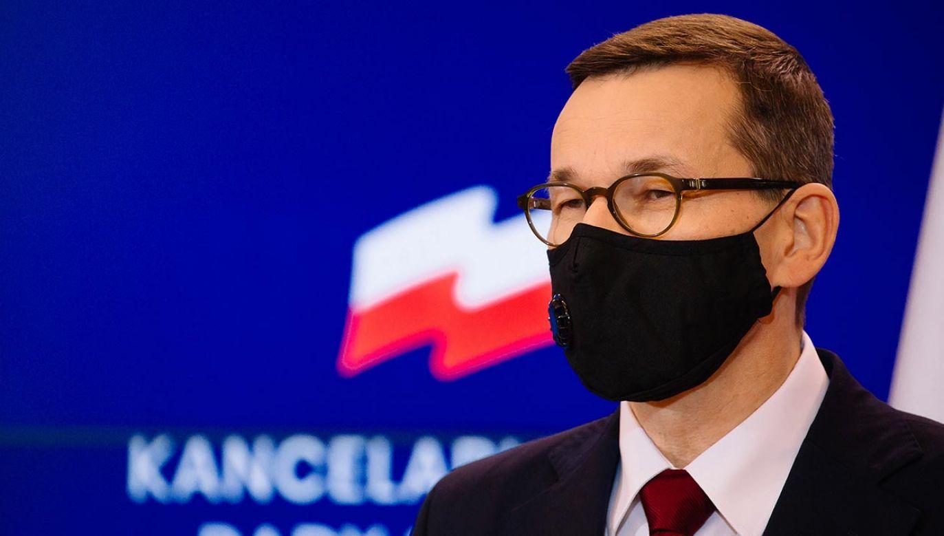Morawiecki o praworządności i działaniach UE (fot. Krystian Maj/KPRM)