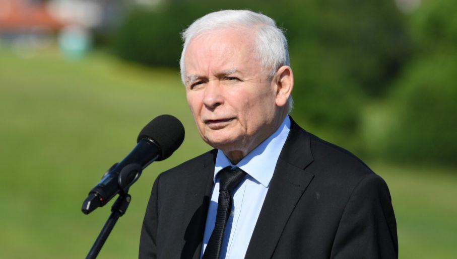 Prezes PiS Jarosław Kaczyński apeluje o szczepienie się przeciw COVID-19 (fot. PAP/Darek Delmanowicz)