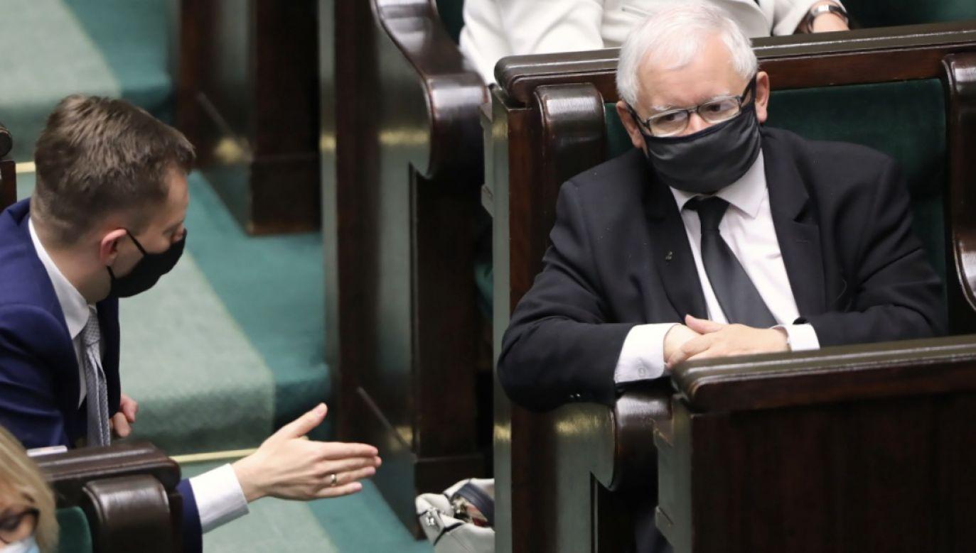 Jarosław Kaczyński miał dziś pojechać do Łodzi na uroczystości 10. rocznicy śmierci Marka Rosiaka (fot. PAP/Wojciech Olkuśnik)