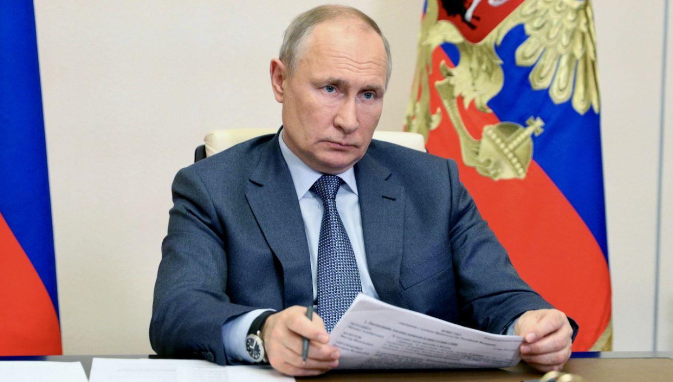 Prezydent Rosji Władimir Putin (fot. PAP/EPA/S.ILYIN/KREMLIN/SPUTNIK)