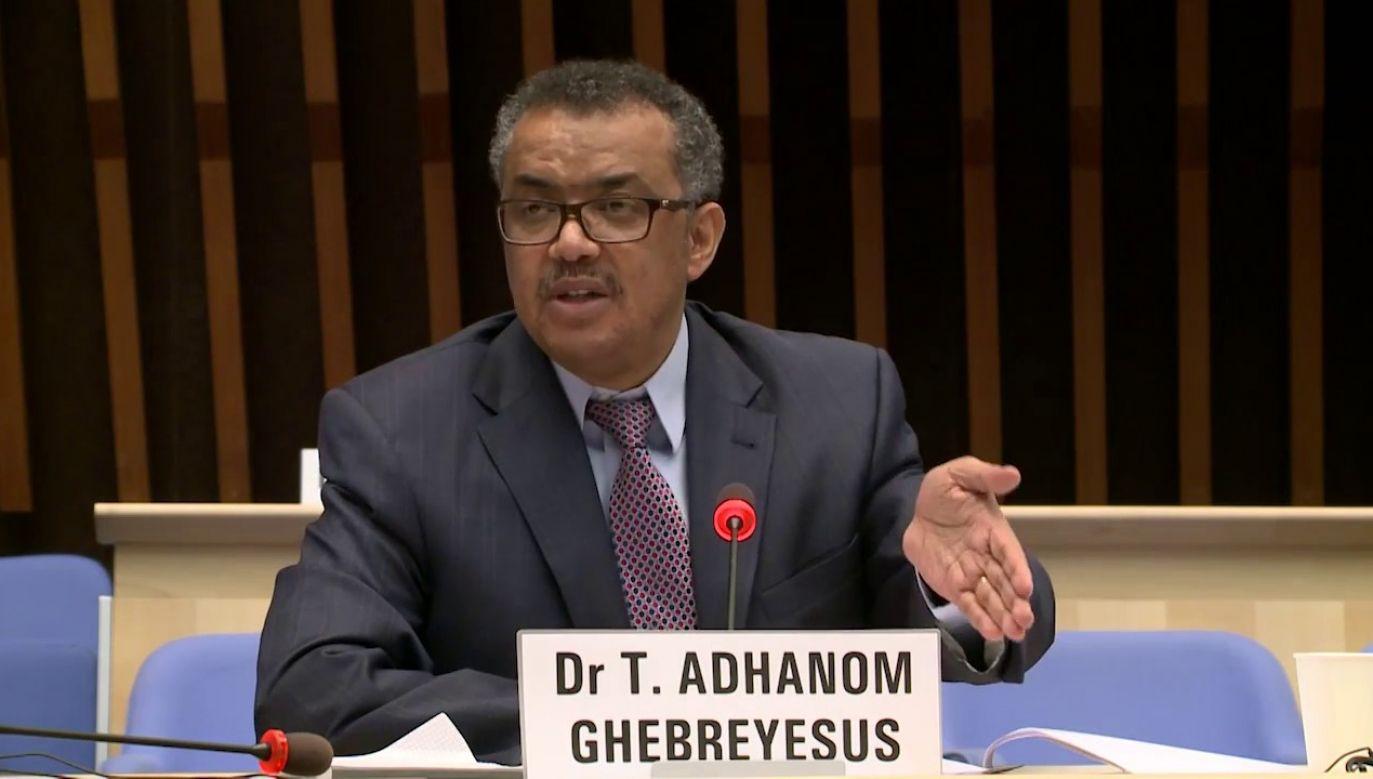 Szef Światowej Organizacji Zdrowia Tedros Adhanom Ghebreyesus (fot. WHO)