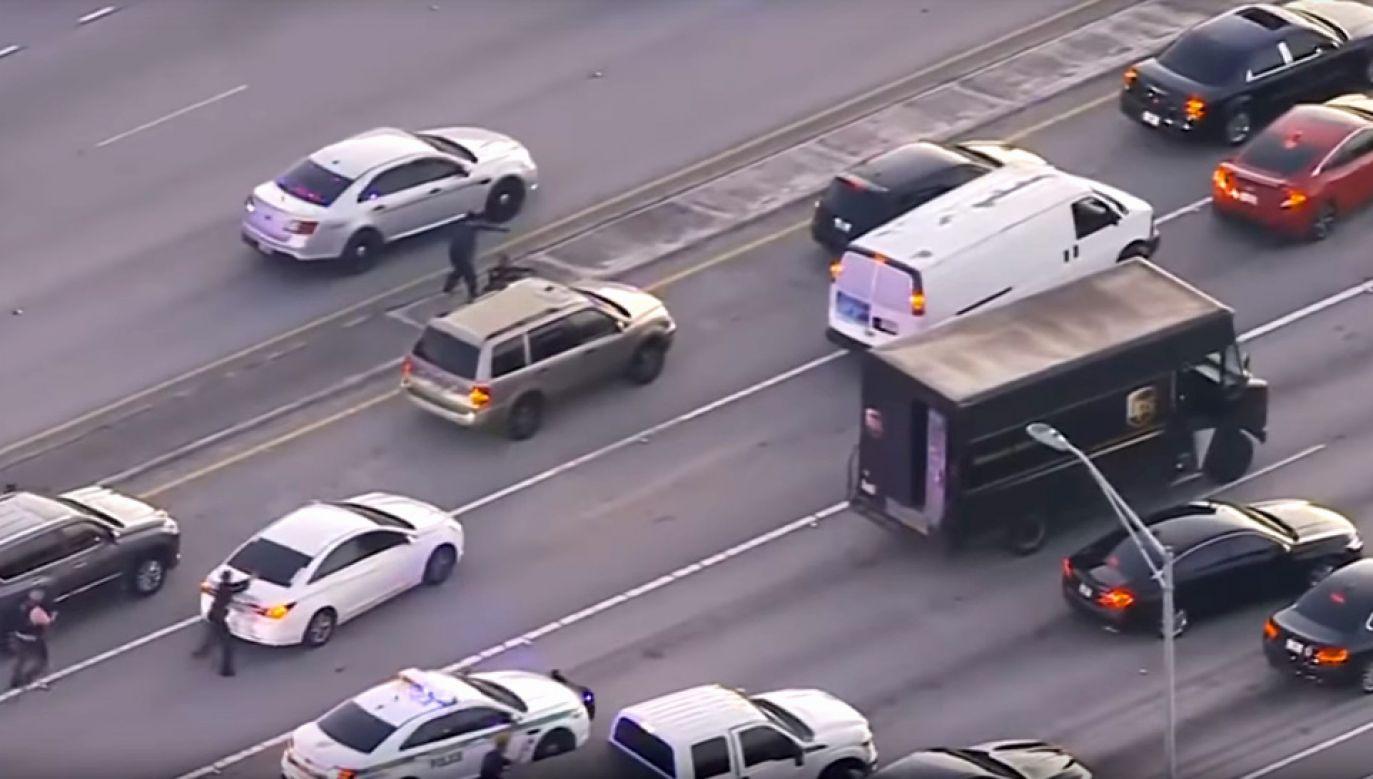 Policja goniła rabusiów przez około 30 km (fot. YT/WFLA News Channel 8)