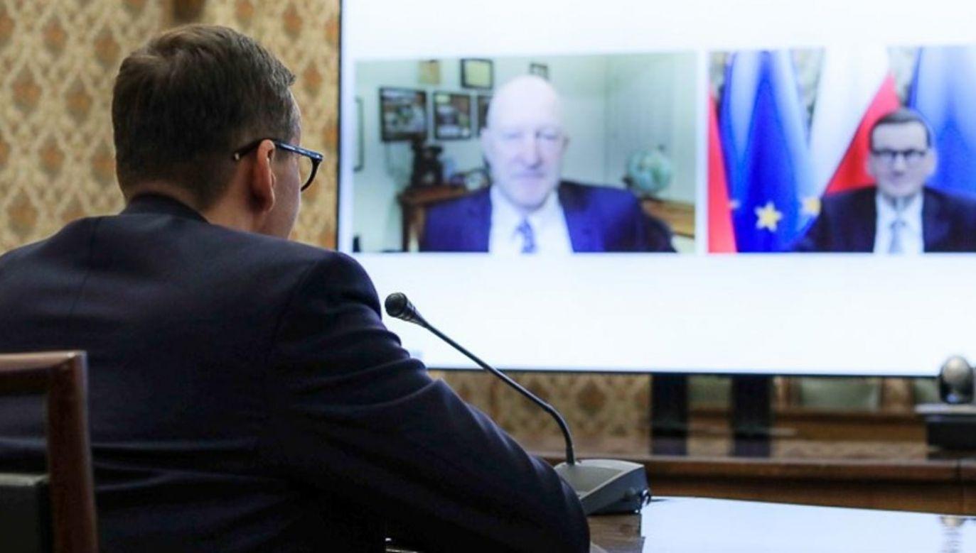 Mateusz Morawiecki na Forum Przyszłości UE-USA 2021 (fot. KPRM)