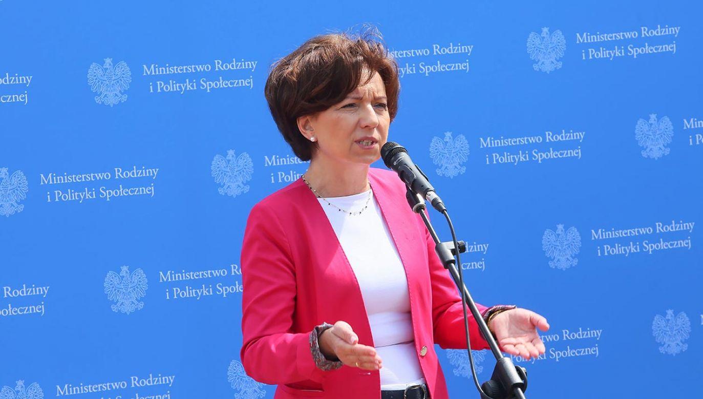 Minister Maląg o Rodzicielskim Kapitale Opiekuńczym (fot. PAP/Tomasz Wojtasik)