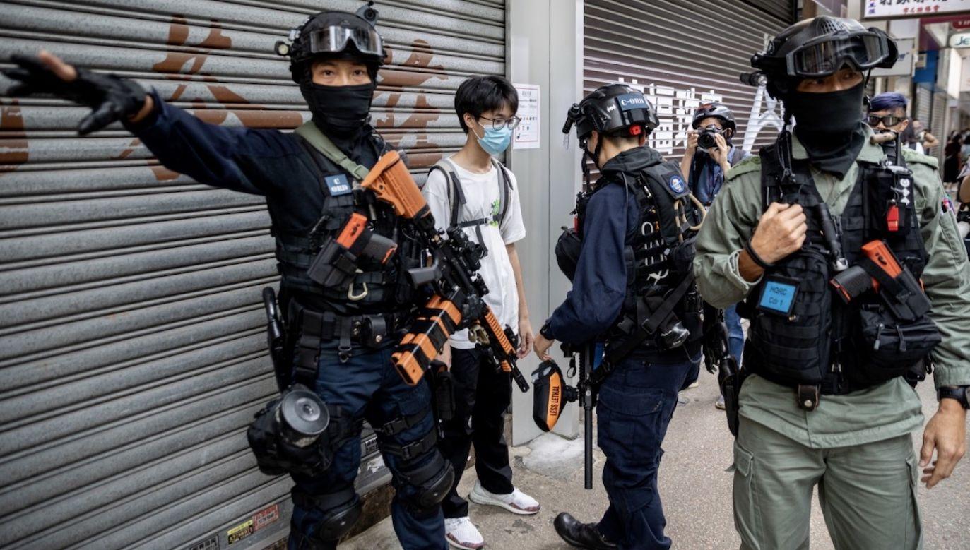 Pekin narzucił Hongkongowi nowe prawo o bezpieczeństwie narodowym (fot. PAP/EPA/JEROME FAVRE)