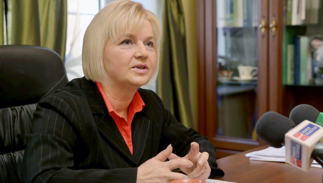 """Lidia Staroń """"nie jest uczestniczką cynicznej gry politycznej"""" – uważa Ikonowicz (fot. arch.PAP/T.Waszczuk)"""