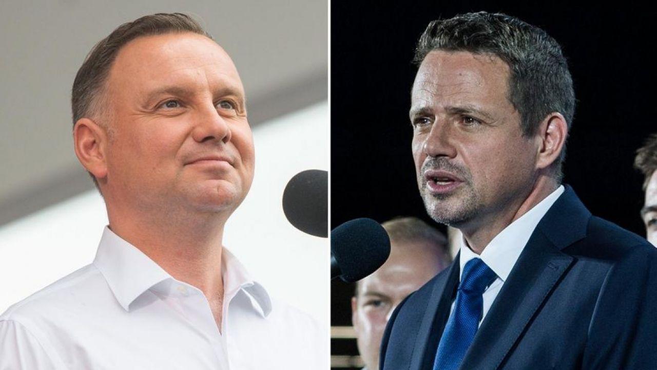 Wybory prezydenckie 2020. Andrzej Duda i Rafał Trzaskowski (fot. Mateusz Slodkowski/ Getty Images; Attila Husejnow/ Getty Images))