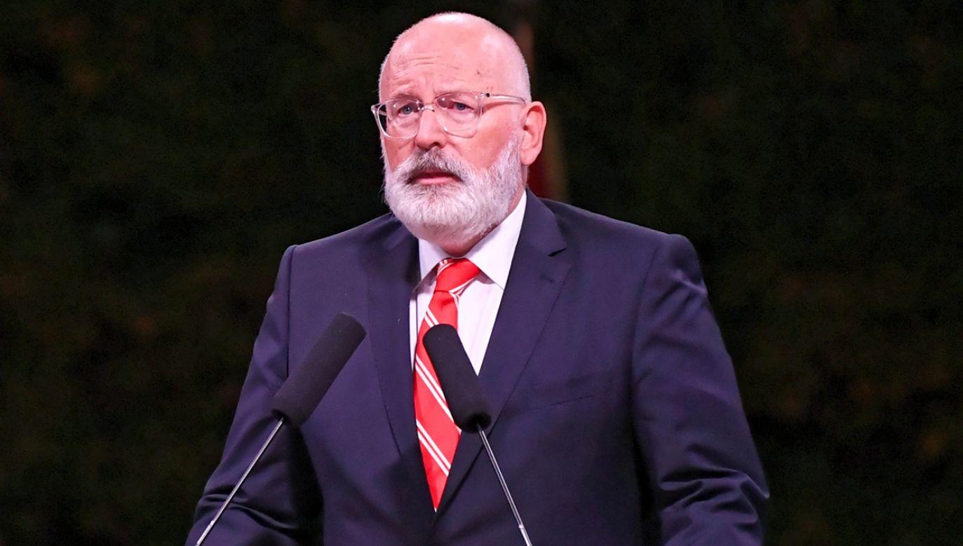 """Wiceprzewodniczący KE wskazał, że ci, którzy oczekiwali zmian, mogą się """"zdziwić lub rozczarować"""" (fot. arch. PAP/Adam Warżawa)"""