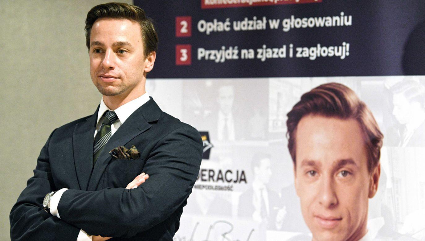 Wiceprezes Ruchu Narodowego, kandydat w prawyborach prezydenckich Konfederacji Wolność i Niepodległość Krzysztof Bosak (fot. PAP/Darek Delmanowicz)