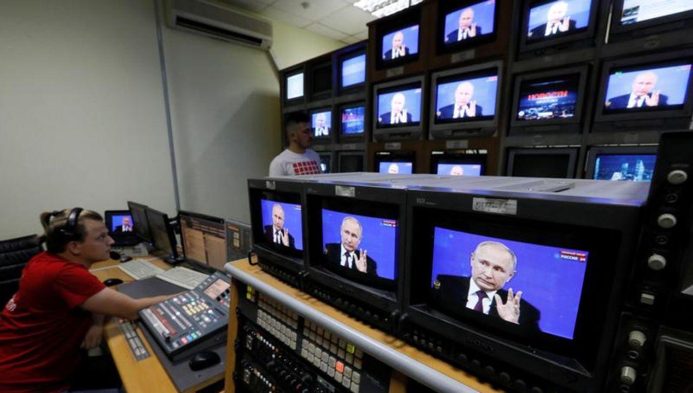 Rozpowszechnianie programów telewizyjnych w języku rosyjskim było niejednokrotnie na Łotwie przedmiotem kontrowersji (fot. REUTERS/Ilya Naymushin)
