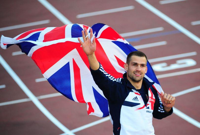 Zwycięzca skoku wzwyż Robbie Grabarz z Wielkiej Brytanii (fot. Getty Images)