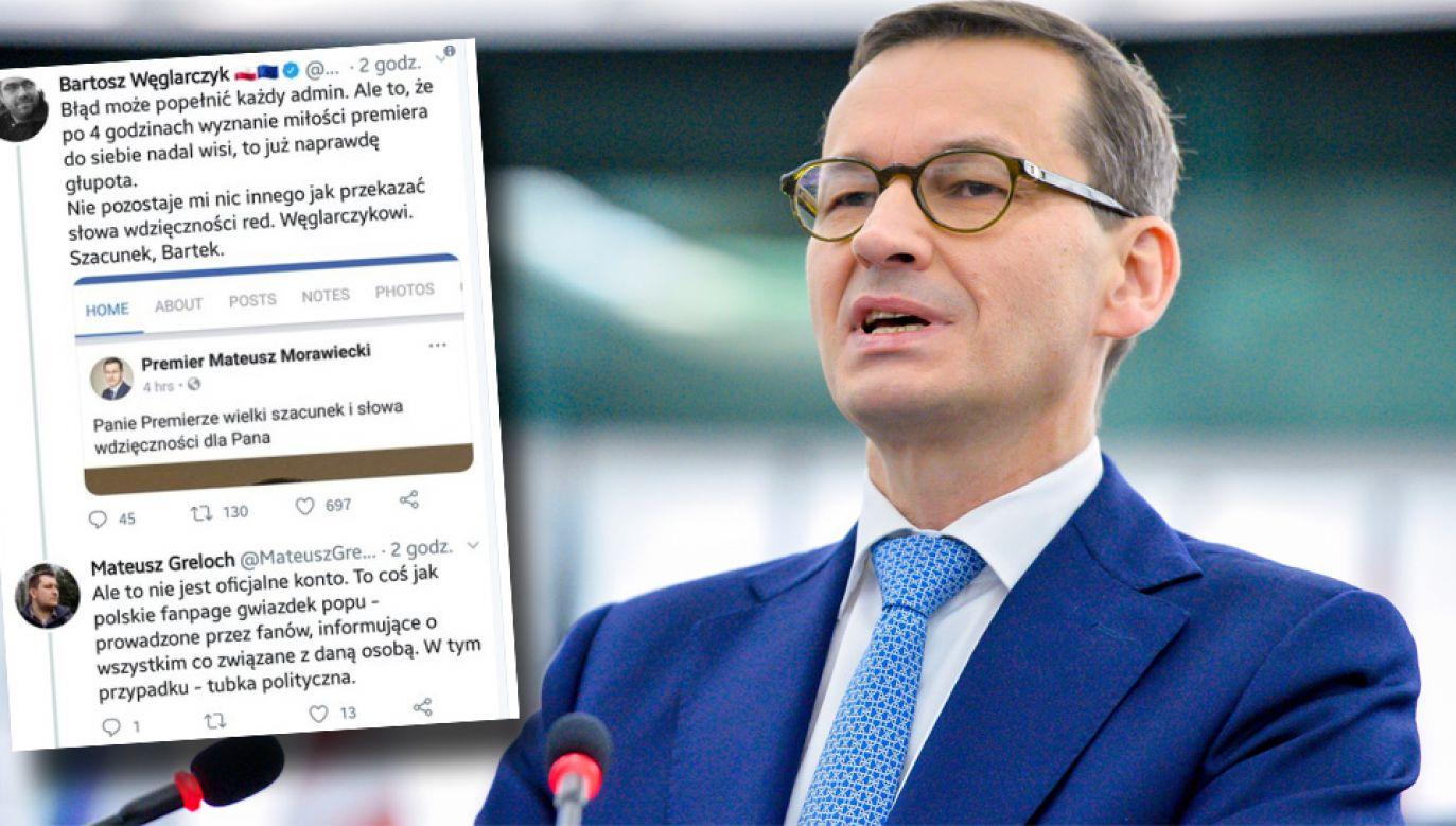 Premier Mateusz Morawiecki (fot. PAP/EPA/MARC DOSSMANN / EUROPEAN PARLIAMENT HANDOUT HANDOUT)
