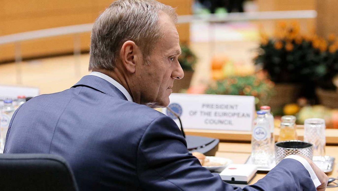 Przewodniczący Rady Europejskiej Donald Tusk (fot. PAP/Leszek Szymański)
