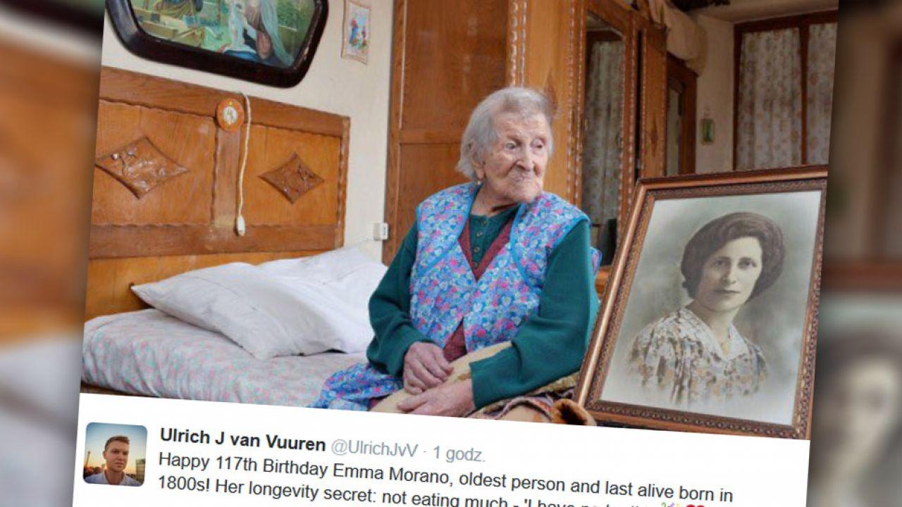 Emma Morano z Piemontu skończyła 117 lat (fot. Twitter/ UlrichJvV)
