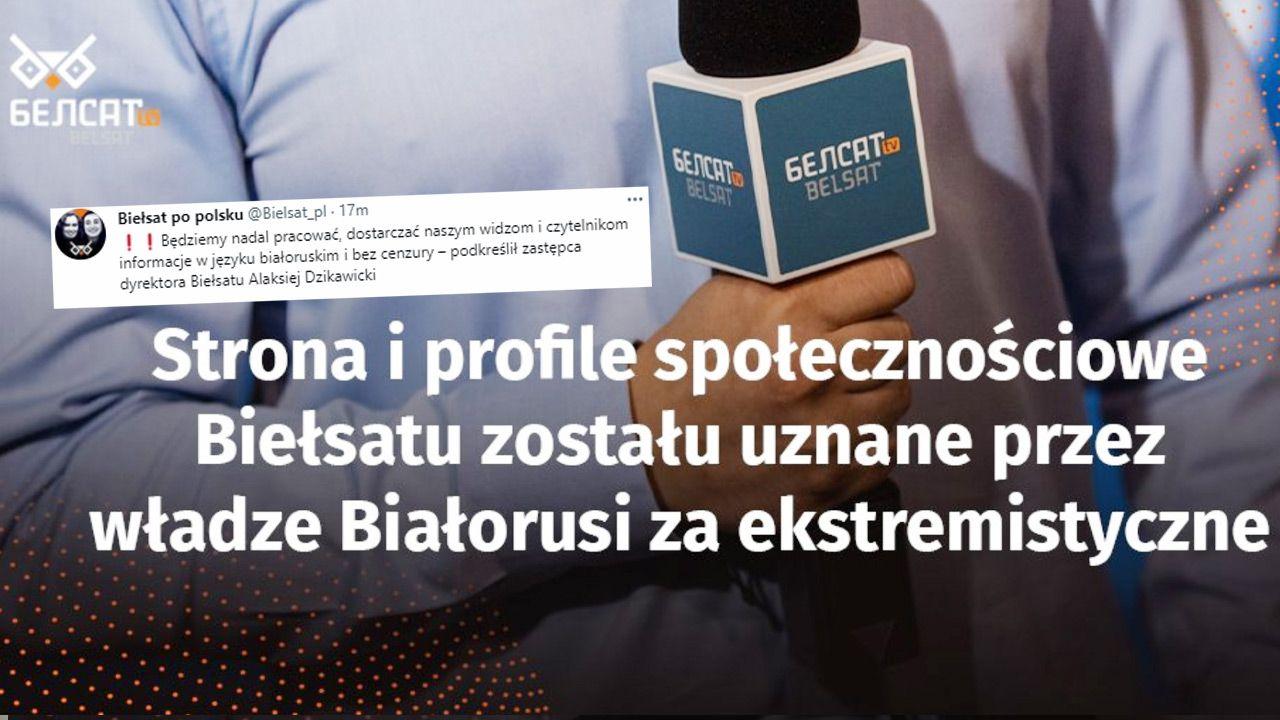 Białoruski sąd w Homlu uznał za ekstremistyczną stronę internetową telewizji Biełsat  (fot. TT)