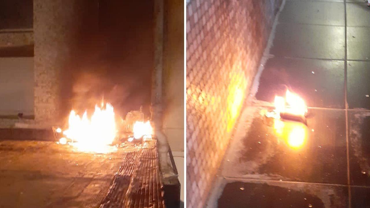 Budynek został zaatakowany koktajlami Mołotowa (fot. Twitter/Cancillería de Cuba)