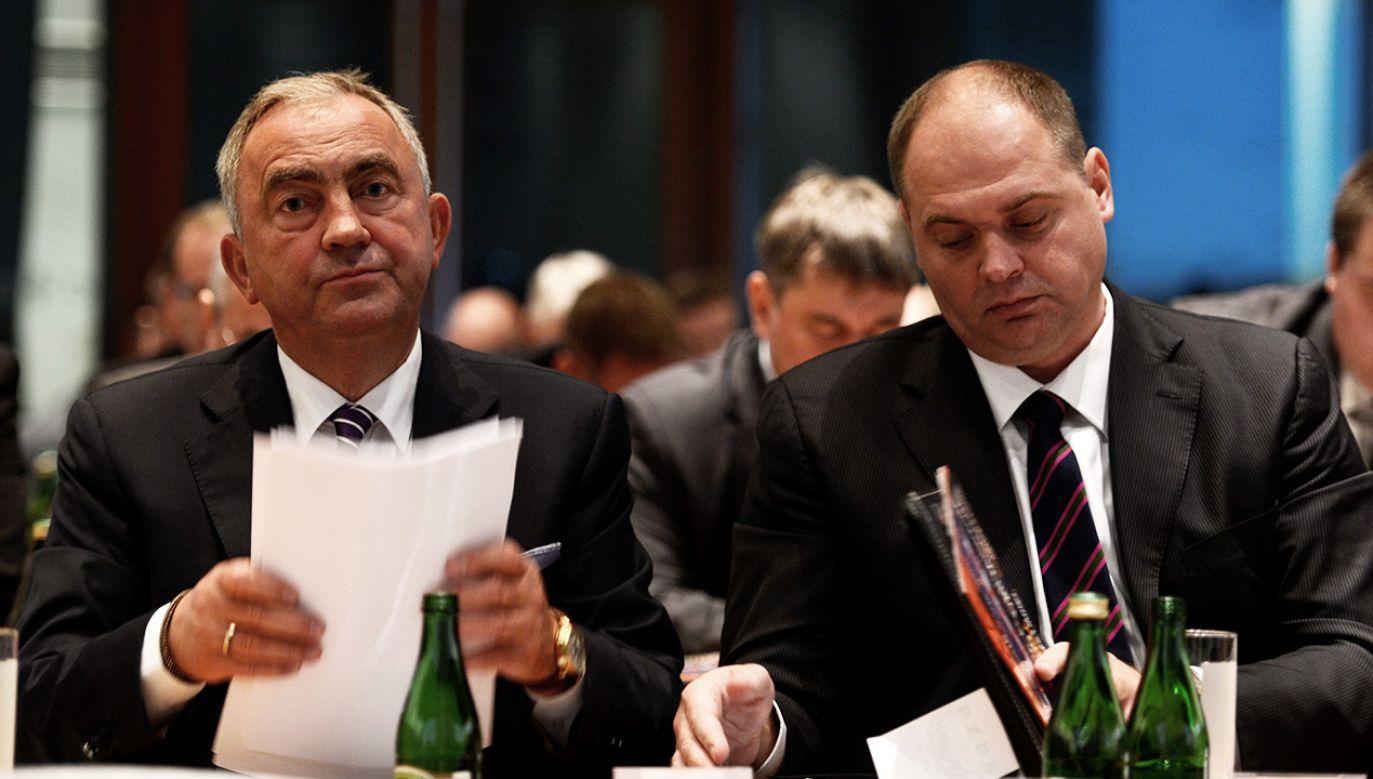 Mirosław Przedpełski i Artur Popko mają zarzuty korupcyjne. (fot. arch. PAP/Bartłomiej Zborowski)
