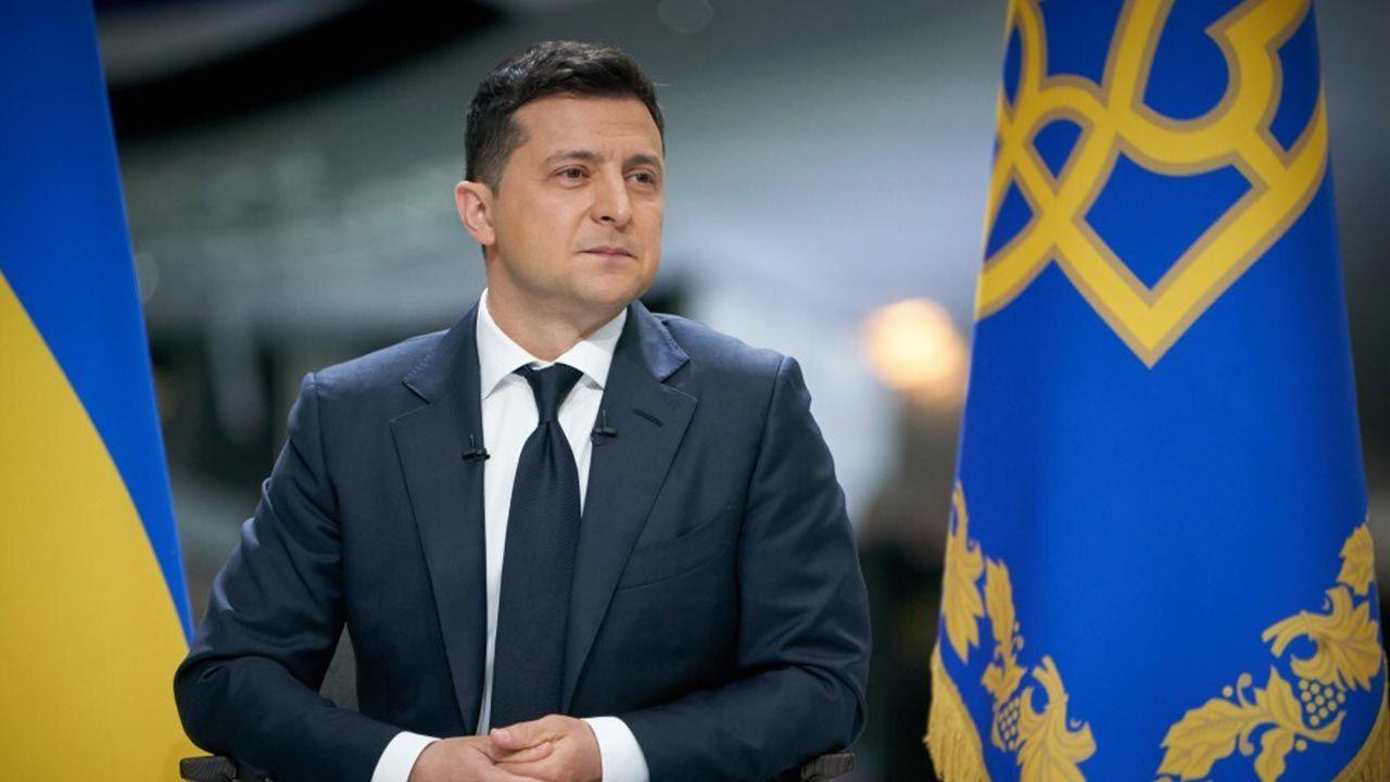 Wołodymyr Zełenski (fot. Ukrainian Presidency/Handout/Anadolu Agency via Getty Images)