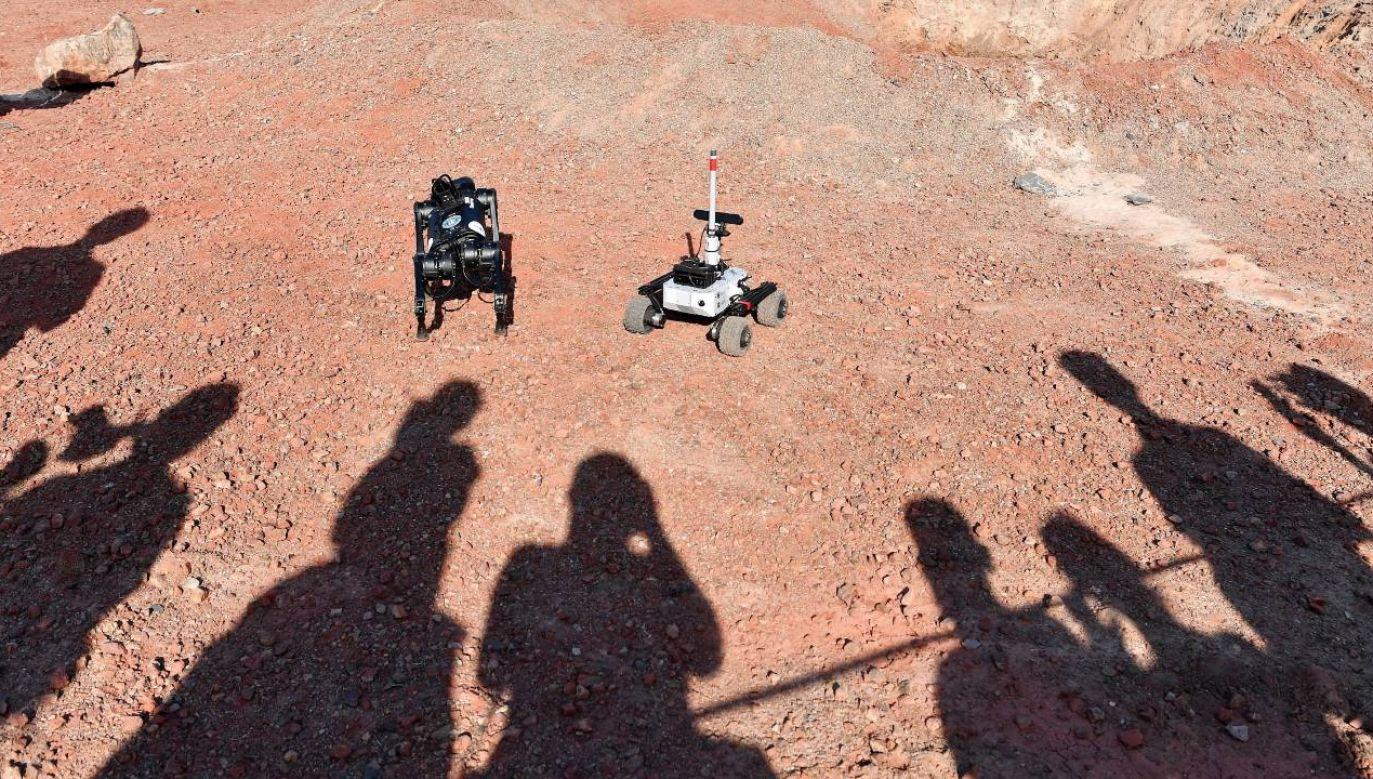 Nawierzchnia, na której rywalizowały drużyny, imitowała powierzchnię Marsa (fot. PAP/Piotr Polak)