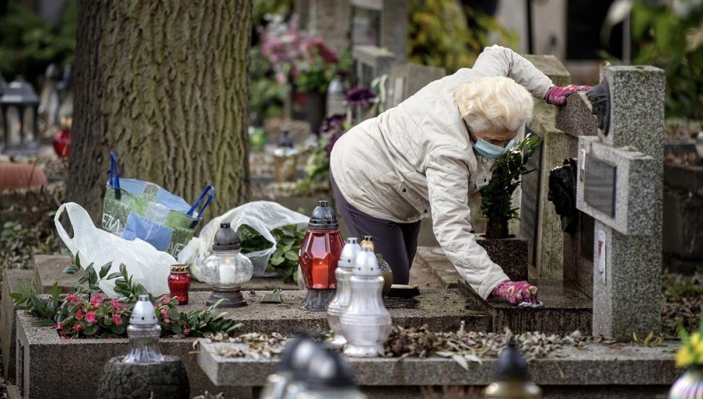 """""""Zachęcam do odwiedzenia grobów bliskich parę dni wcześniej, kilka dni później"""" (fot. PAP/Łukasz Gągulski)"""