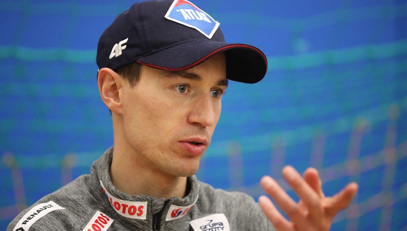 Kamil Stoch to lider polskiej kadry skoczków narciarskich. (fot. PAP/Grzegorz Momot)