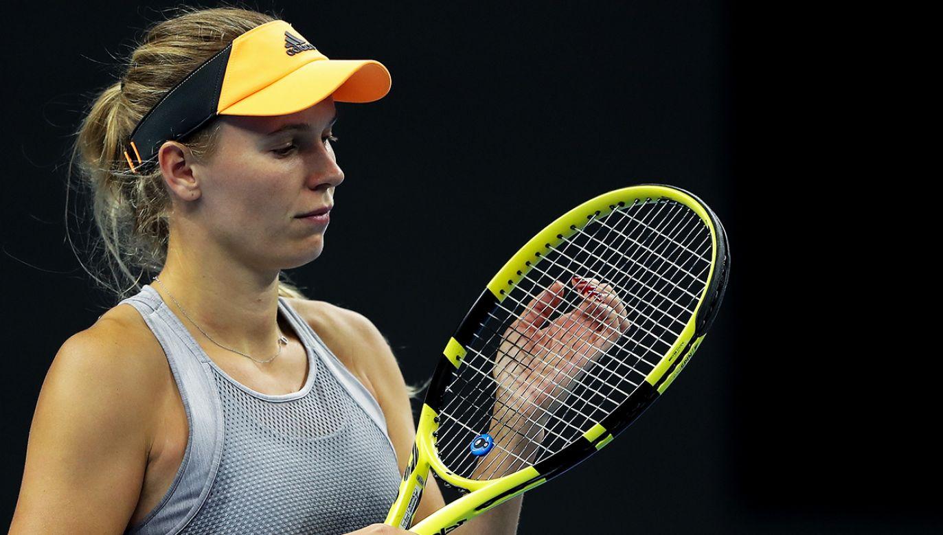 Po turnieju Australian Open Caroline Wozniacki planuje skończyć karierę (fot.  Lintao Zhang/Getty Images)