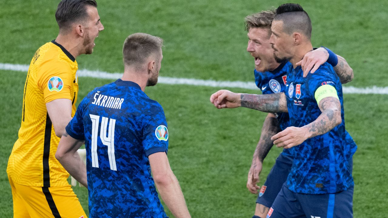 Słowacy konsekwentnie realizowany ustalony plan na mecz (fot. Getty Images)