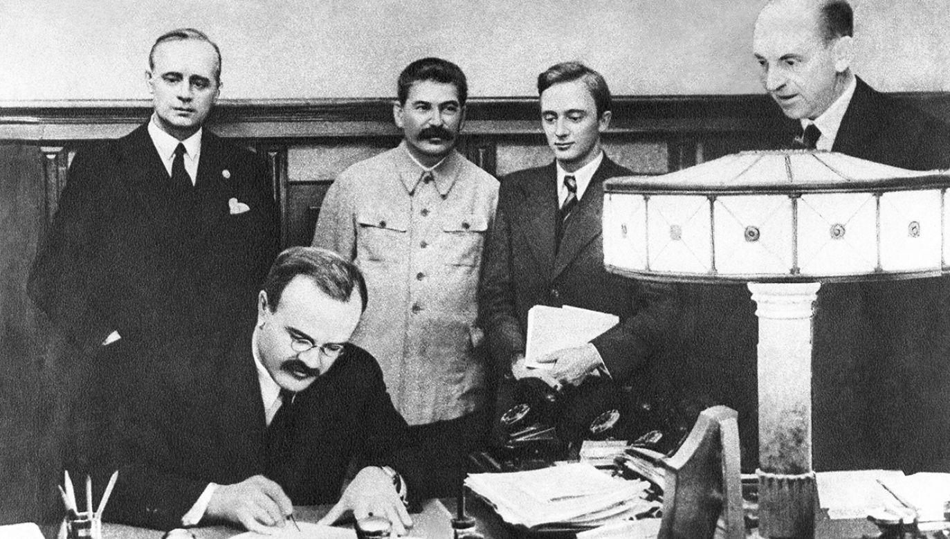 Pakt Ribbentrop-Mołotow podpisano 23 sierpnia 1939 roku (fot. arch.PAP/ITAR-TASS)