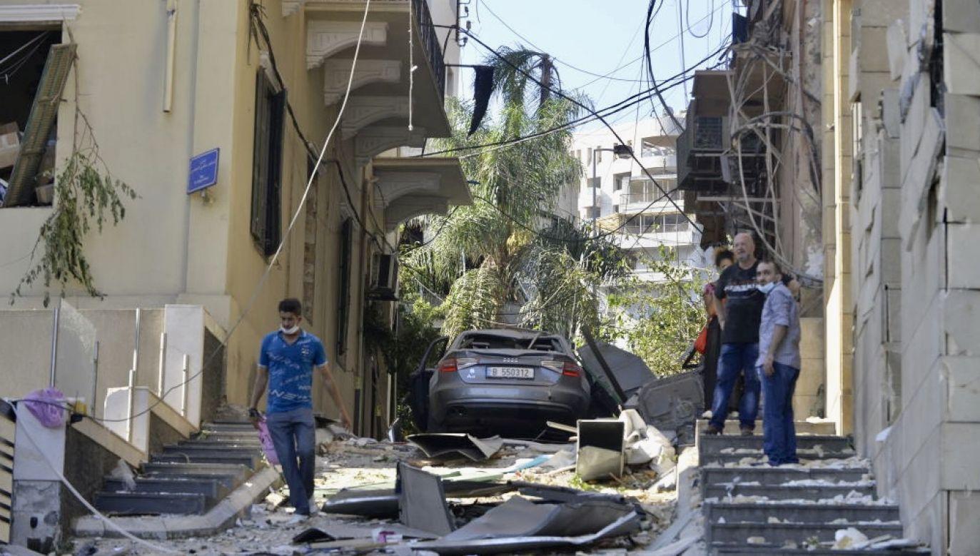 Wybuch zniszczył dużą część miasta (fot. Houssam Shbaro/Anadolu Agency via Getty Images)